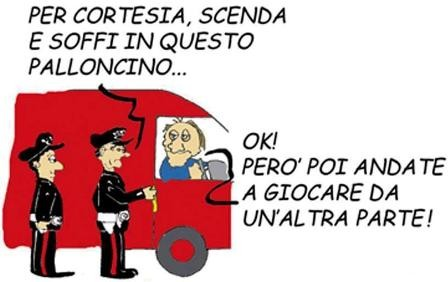 palloncino, alcool, carabinieri, camionista, pallone, campioni d'italia, football, calcio, barzelletta
